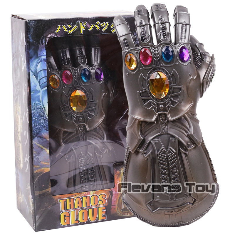 Avengers Infinity War Thanos Cosplay Glove 1:1 The Infinity Gauntlet Collectible Model Toy with Light 1 1 the avengers iron man updated gauntlet glove led light left right hand new with retail box