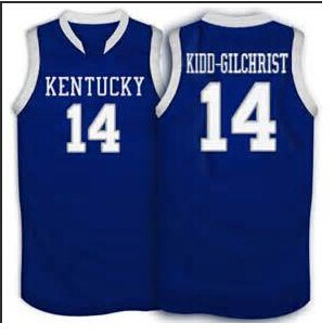 5f6e7195a06 14 Michael Kidd Gilchrist Kentucky Wildcats Basketball Jersey White ...