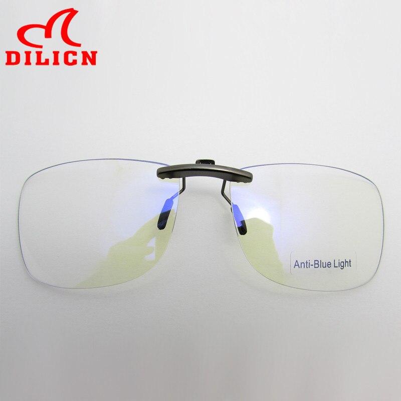 Blau Licht Blockieren Clip-on Computer Lesebrille Anti Blau Rays Clip Auf Gaming Schutz Brillen Digitale Auge Belastung Relief