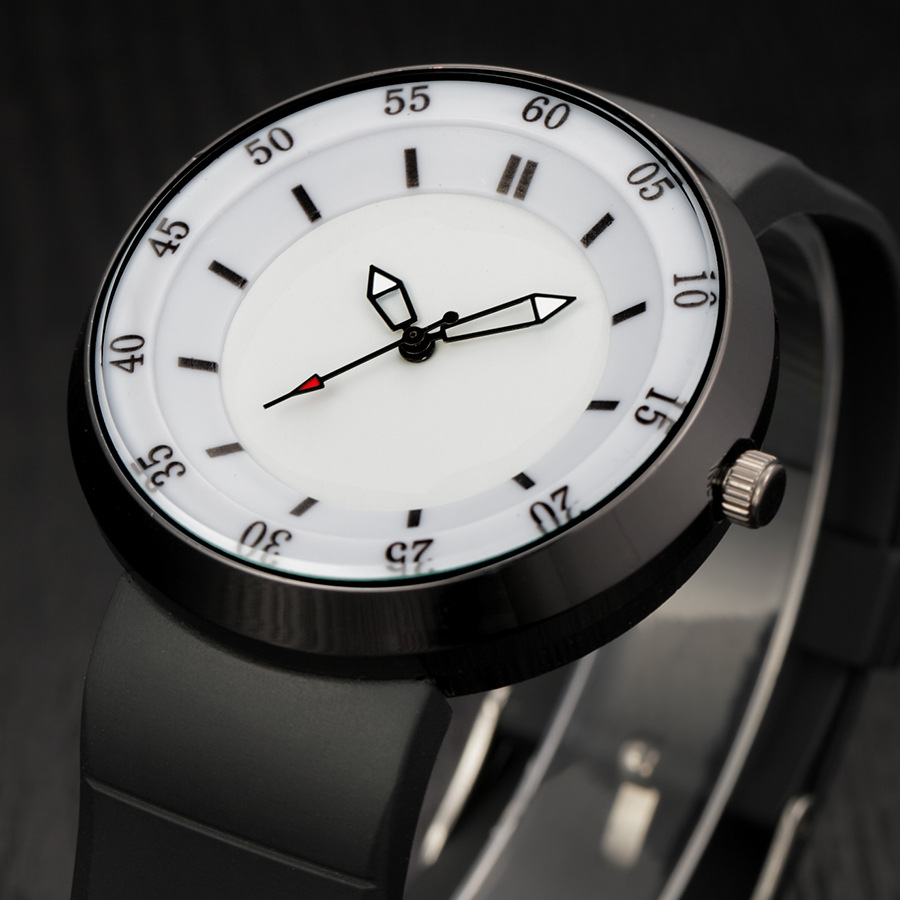 2017 New Luxury Brand Creative Mens Watch Quartz-watch Fashion Sport Hour Rubber Strip Clock  Analog Lover's Watches Bayan Saat