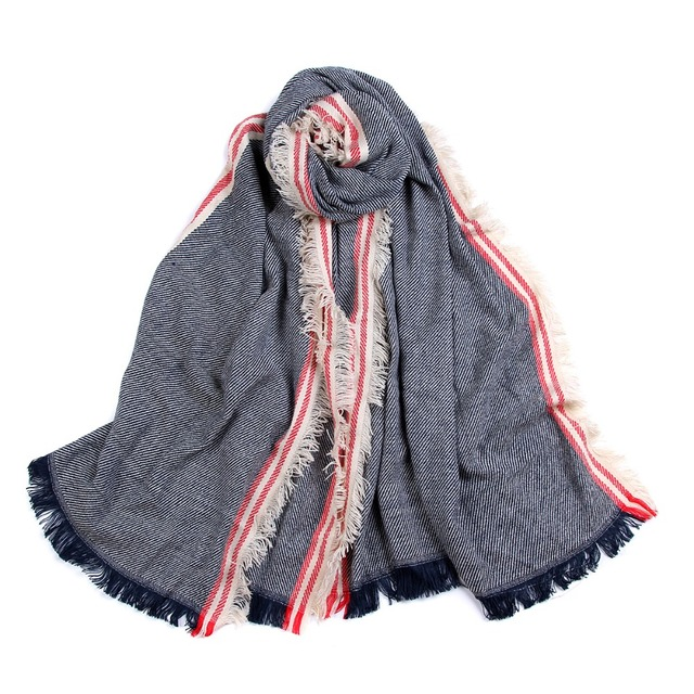 Striped Jeans Style Scarves | Shawl & Wraps