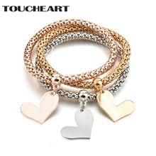 Toucheart популярный цинковый сплав золото/розовое золото/серебро