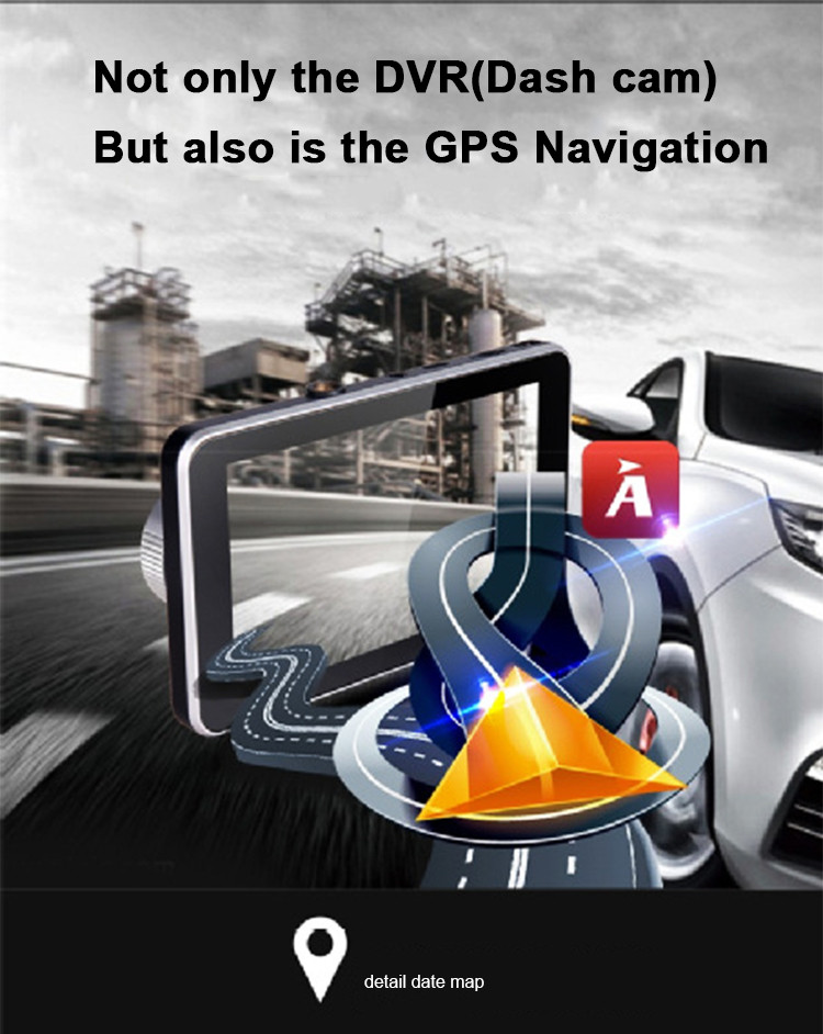 Android Car DVR Camcorder dual lens dash cam drive camera GPS Navigation video recorder Full hd 1080p auto registrator dvr wifi 9