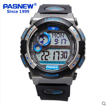 pasnew Brand Mens Sports Watches Dive 100m Digital LED Military Watch Men Fashion Casual Electronics Wristwatches Hot Clock