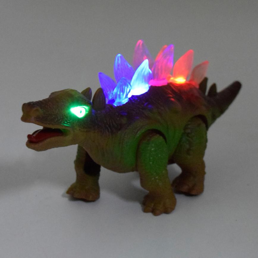 Light Up Luminous Dinosaur Electronic Walking Robot Dinosaur Model Roaring Interactive Dino Toys Gift for Children Boys