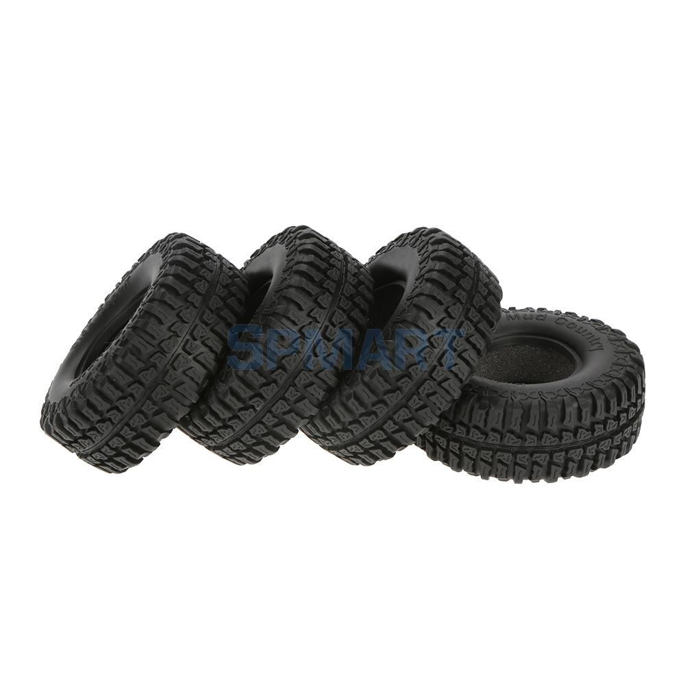 4 Pieces 1.9 Rocks Tyre Tires 1:10 For 1/10 RC RC4WD Climbing Rock Crawler Cars Spare Parts mxfans 23 pieces alloy upgrade set spare parts for rc 1 10 axial rock crawler