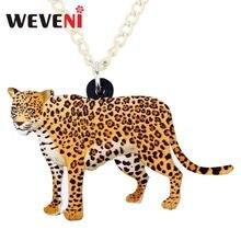 Wveni – collier avec pendentif léopard panthère, Bijoux pour femmes et filles, chaîne ras du cou, sauvage, livraison directe