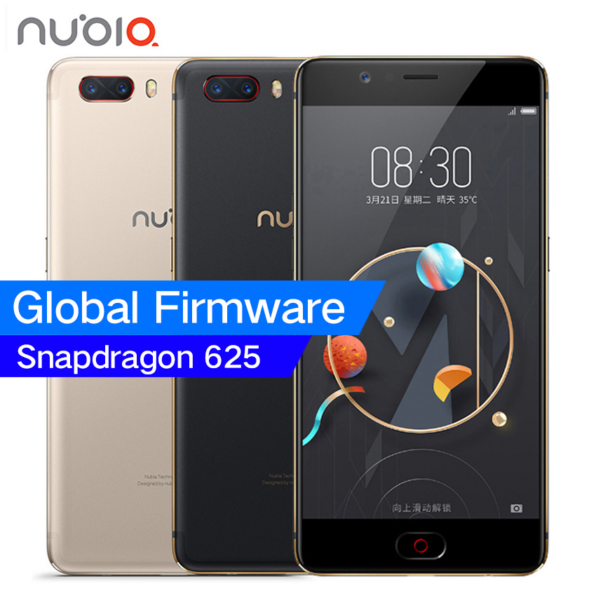 "Original ZTE Nubia M2 4G LTE Snapdragon 625 Octa Core 5.5"" 1080P 4G RAM 64GB ROM 16.0MP Camera 3630mAh Battery Mobile Phone"
