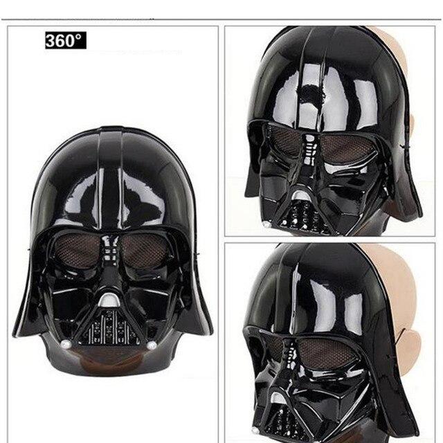 Star Wars Darth Vader Máscara de Halloween Deluxe Fonte Do Partido Tema Traje de Super-heróis de Star Wars Maske Toy 24.5*19.5 cm preto Branco