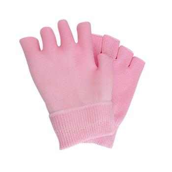 1 Pair Gel Spa Gloves Moisturizing Whitening Exfoliating Pink Beauty Hand Mask Hands Skin Care Soften Whiten Half Gloves 1