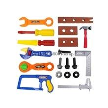 Kit de Ferramentas de 19 Pcs Crianças Das Crianças blocos de Construção de Brinquedo Meninos Construtor Construção Play Set # K4UE # Navio Da Gota