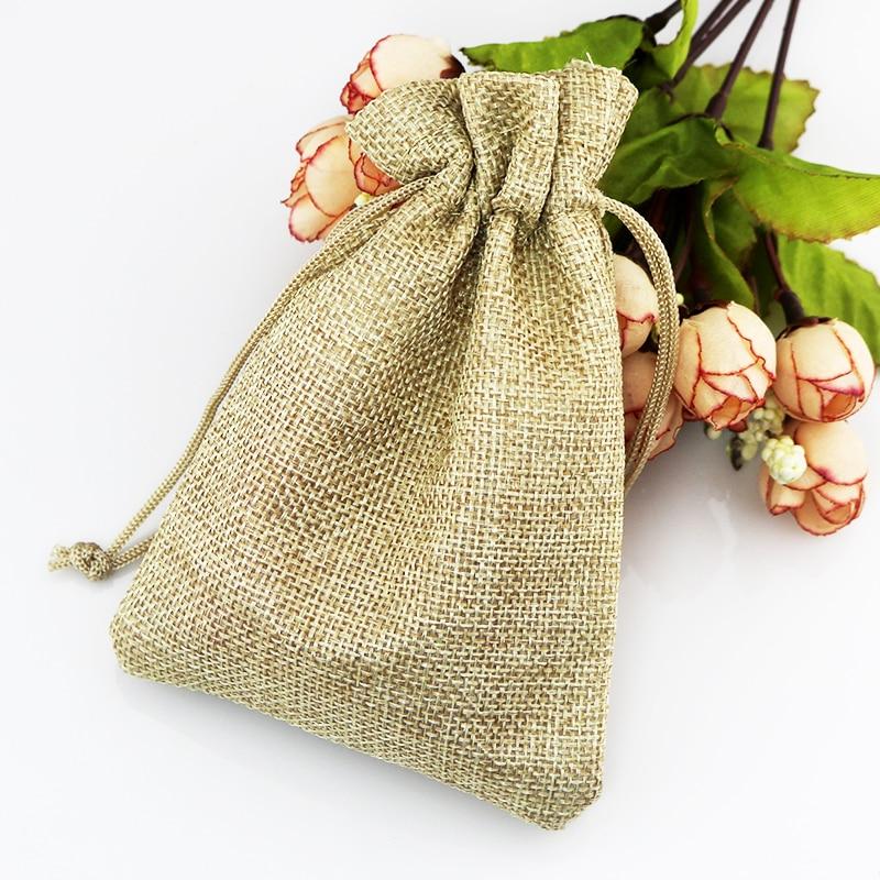 jute cosmetic bag -Party eco beauty small jute cosmetic bag