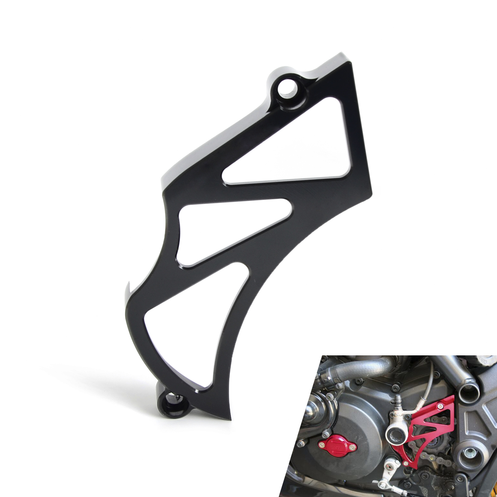 NICECNC Motorcycle Front Sprocket Cover Chain Guard Cover for Ducati Diavel Carbon 2011 2016 696 796