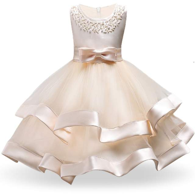 Us 758 28 Offflower Cake Tutu Kids Clothing Elegent Hand Beading Girls Dresses For Children Princess Party Custumes 3 10 Years In Dresses From