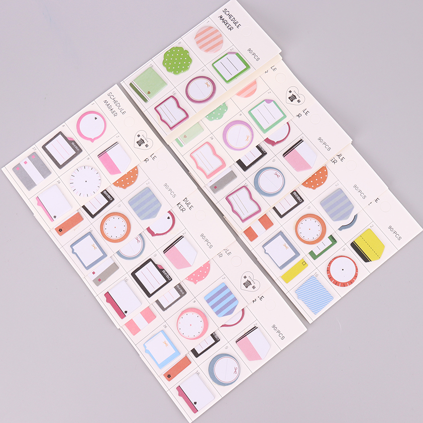90 Sheets Cute Kawaii Memo Pad Note Sticky Paper N Times Irregular Stationery Planner Stickers Notepads Office School Supplies