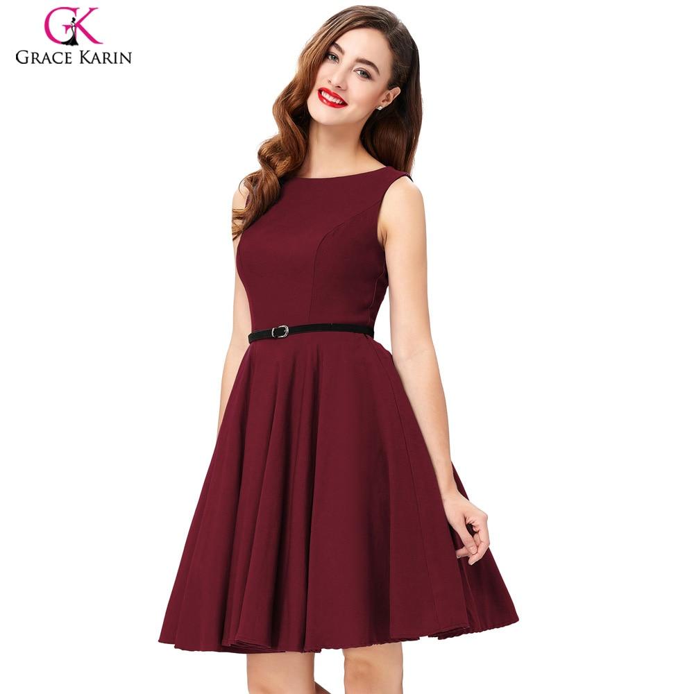Summer Dress Plus Size Polka Dot Print Cotton Vestidos Sleeveless Vintage  50s 60s Rockabilly Dresses Women 2018 For Christmas