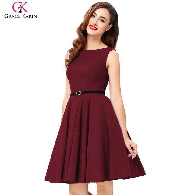 US $24.28 49% OFF|Summer Dress Plus Size Polka Dot Print Cotton Vestidos  Sleeveless Vintage 50s 60s Rockabilly Dresses Women 2018 For Christmas-in  ...
