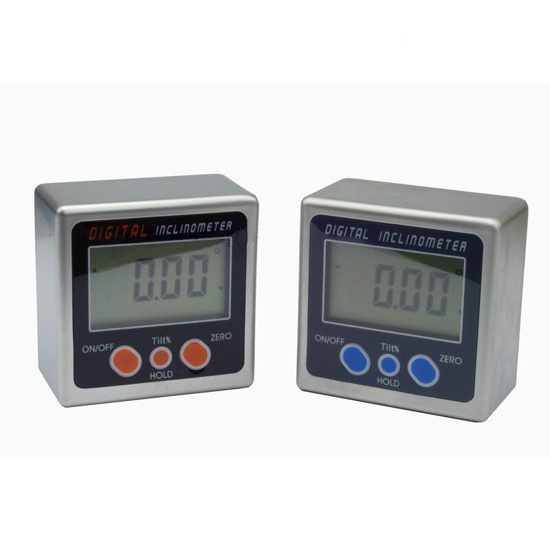 Digital Inclinometer Electronic Protractor 0-360 Aluminum Alloy Bevel Box Angle ruler Gauge Meter Magnets Level Measuring tool стоимость