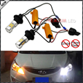 (2) no hyper flash 7440 t20 samsung blanco/ámbar switchback bombillas led para las luces de circulación diurna/señales de giro
