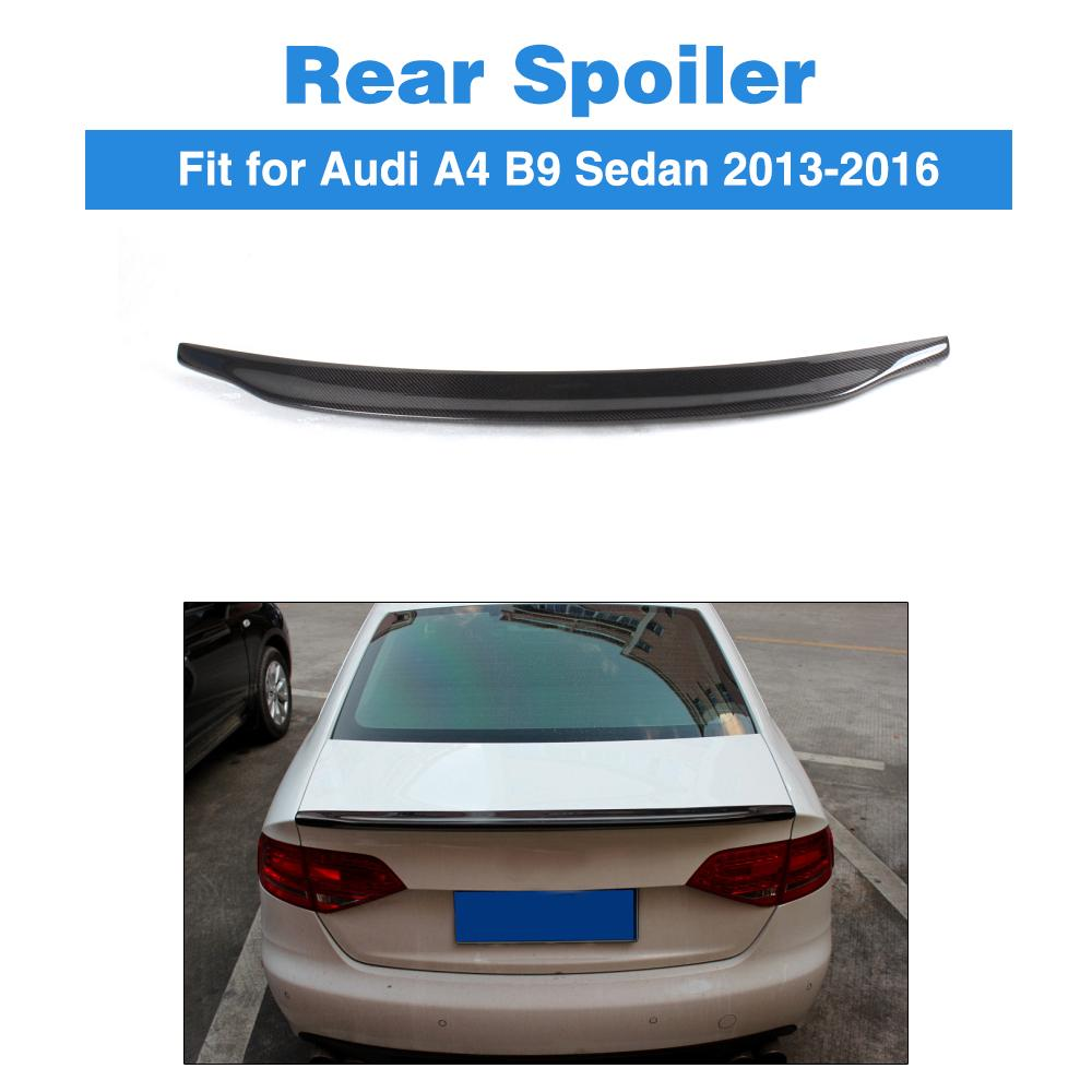 Carbon fiber rear trunk sticker boot lip spoiler wing for audi a4 b9 sedan 2013