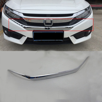 Car Styling ABS silver interior auto accessories front grill trims For HONDA CIVIC 2017
