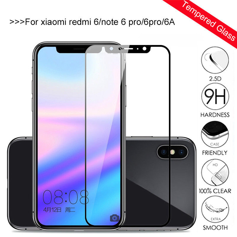 9H Hardness Protective Glass <font><b>Xiaomi</b></font> <font><b>Redmi</b></font> <font><b>6</b></font> Note <font><b>6</b></font> Pro <font><b>Redmi</b></font> 6A Tempered Screen Protector Glass Film For <font><b>Xiaomi</b></font> <font><b>Redmi</b></font> Note <font><b>6</b></font> Pro image