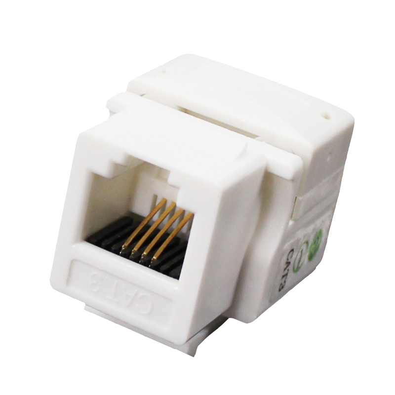 50pcs Telephone module RJ11 voice module RJ11 CAT3 keystone jack telephone socket RJ11 telephone 6P4C keystone jack