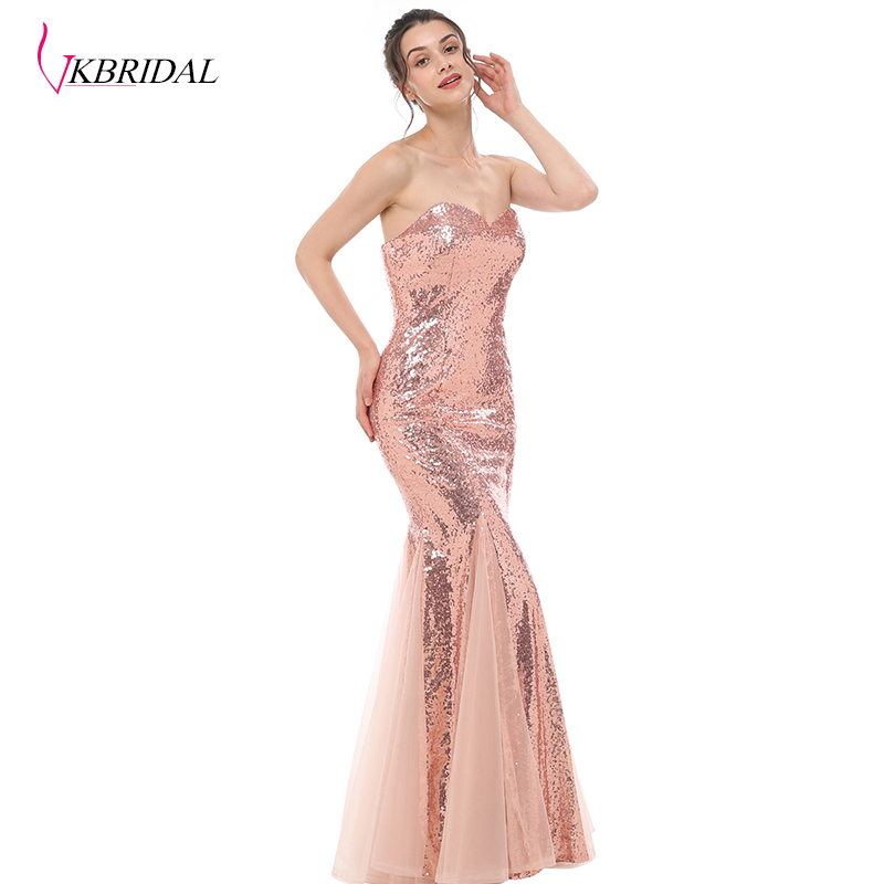 Mermaid, Gowns, VKBRIDAL, Sequined, Plus, Dresses