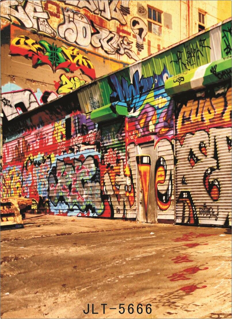 Graffiti wall vinyl - City Graffiti Wall Vinyl Backgrounds For Photos Computer Printed Wedding Children Photography Backdrops For Photo Studio