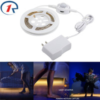 ZjRight Motion Sensor Led Strip Lights Waterproof Flexible Toilet Lights Warm White Automatic Shut Off Timer