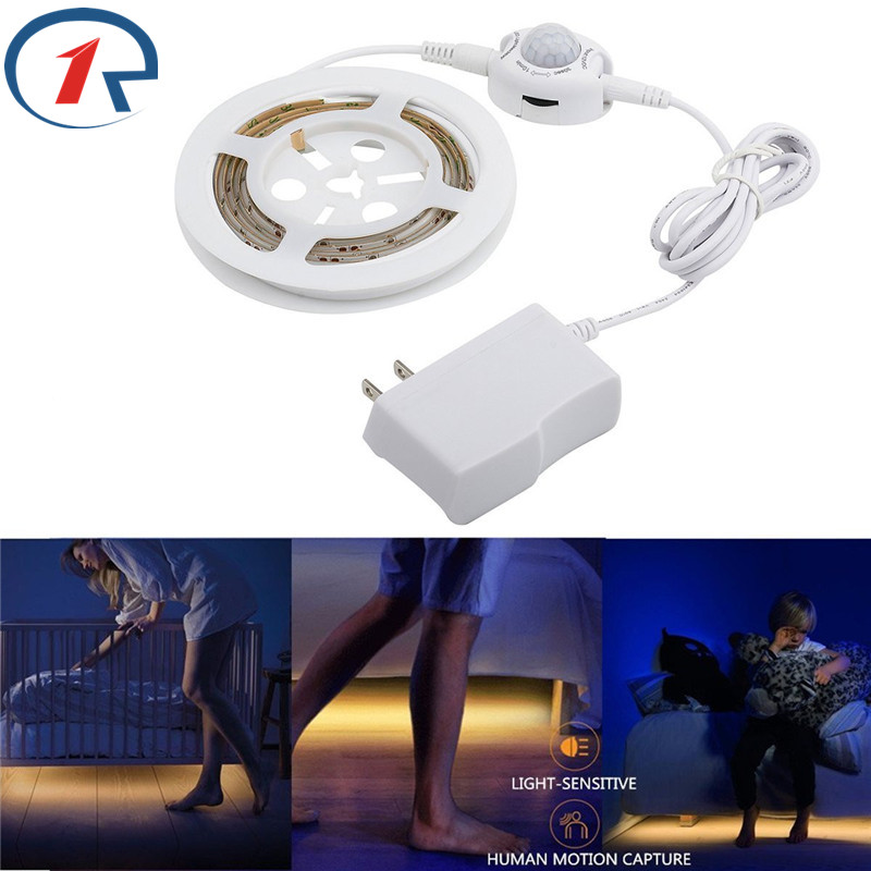 ZjRight Motion Sensor led strip lights waterproof Flexible toilet lights Warm White Automatic Shut Off Timer Bedroom night Light for dual motion activated bed light flexible led strip sensor night with automatic shut off timer promotion