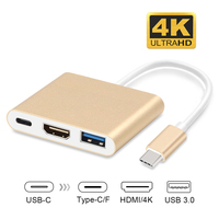 GOOJODOQ USB C Type C Hub USB 3 1 To HDMI 4K Adapter Converter Cable For