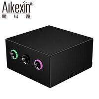 Aikexin 5.1オーディオコンソールアダプタ、2 rcaへ3.5ミリメートルコンバータ用5.1マルチメディアスピーカーシステム、イヤホン