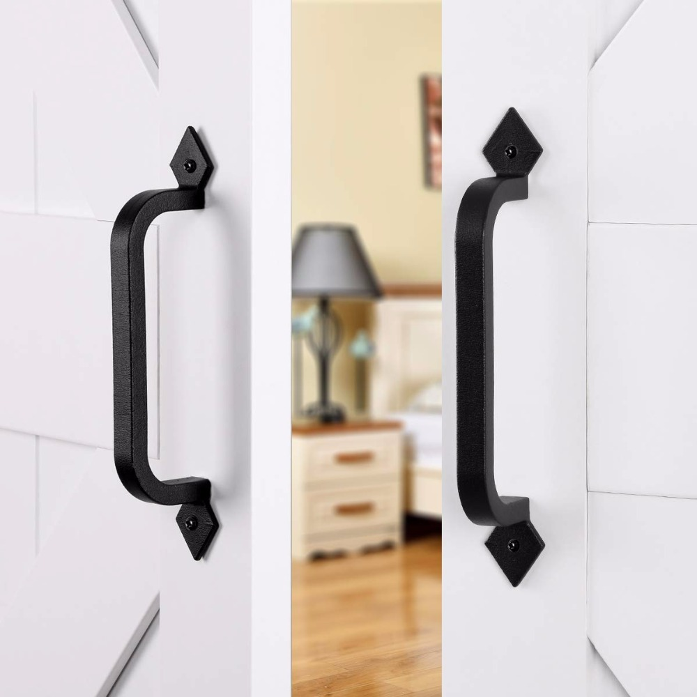 25cm Sliding Barn Door Handles Pull Hardware Set Gate Cabinet Closet Door Handle Ebay