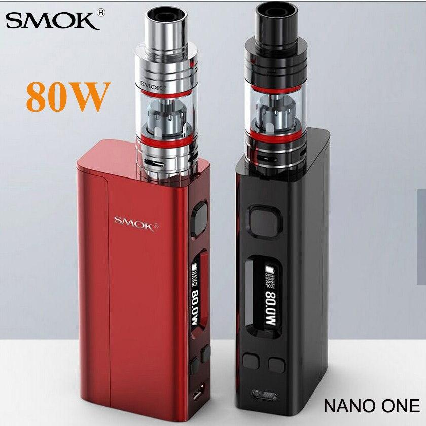 Vape SMOK Nano Ein Starter Kit Elektronische Zigarette R-Dampf Mini 80 watt TC Verdampfer box Mod Nano TFV4 tank VS Pico S219
