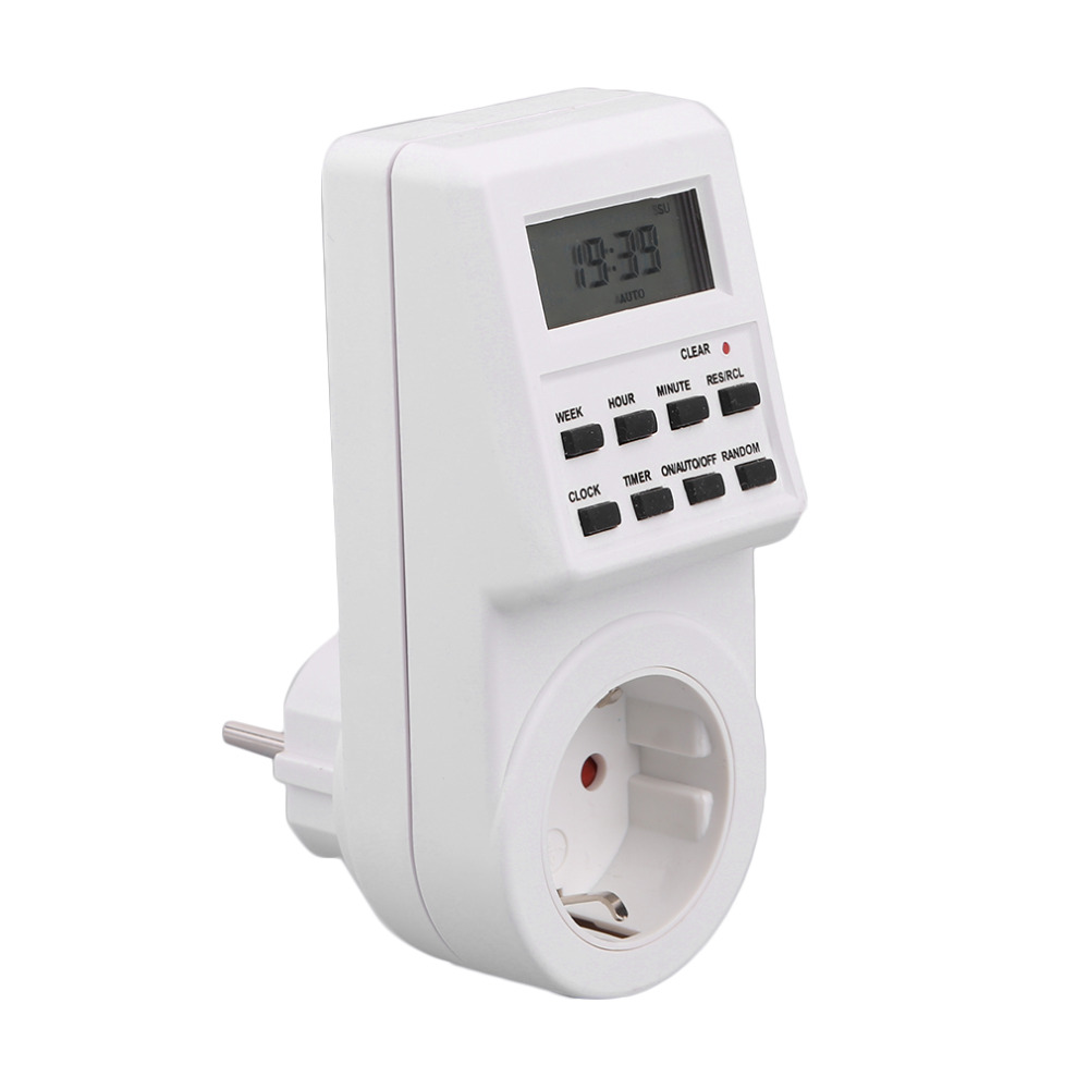 230V Plug Switch Socket New Arrival Plug-in Programmable Timer Switch Socket with Clock Summer Time Random Function Top Sale plug