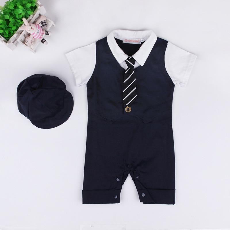 77ceff6ed Designer newborn clothing Fomal Gentlemen baby boy onesie 2PCS hat ...