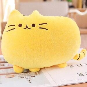 Image 4 - 25cm Pushin Cat zabawki miękkie zabawki wypchane kocięta wypchane zwierzę i pluszowe zabawki słodki kociak poduszka dla dzieci prezent dla dziecka dziewczynki Push Een zabawki
