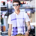 High Quality Men's Casual Polo Shirt Summer Brand Fashion Plaid Cotton Plus Size Short Sleeve Polo Shirts Men Pull Home C15D8001