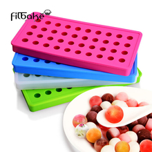FILBAKE 40 - Hole Hockey Mold Round Small Ice Molds Silicone Freeze Ice ball Mold With Ice Cubes DIY Of Baking Accessories