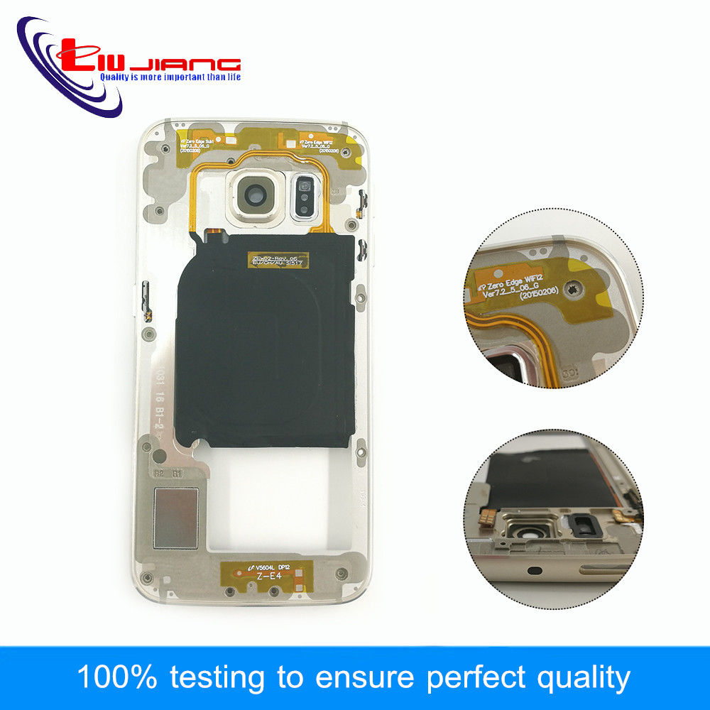 WOJOQ Middle Frame For Samsung S6 Edge G925 G925F G925A G925i Mid Bezel Metal Housing Chassis with Camera Lens Replacement PartsWOJOQ Middle Frame For Samsung S6 Edge G925 G925F G925A G925i Mid Bezel Metal Housing Chassis with Camera Lens Replacement Parts