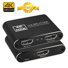 NewBEP HDMI Splitter 1×2 4kX2k 3D Splitter HDMI Switch Adapter 1 In 2 Out With Power Supply For Xbox Amplifier HDCP Wholesale