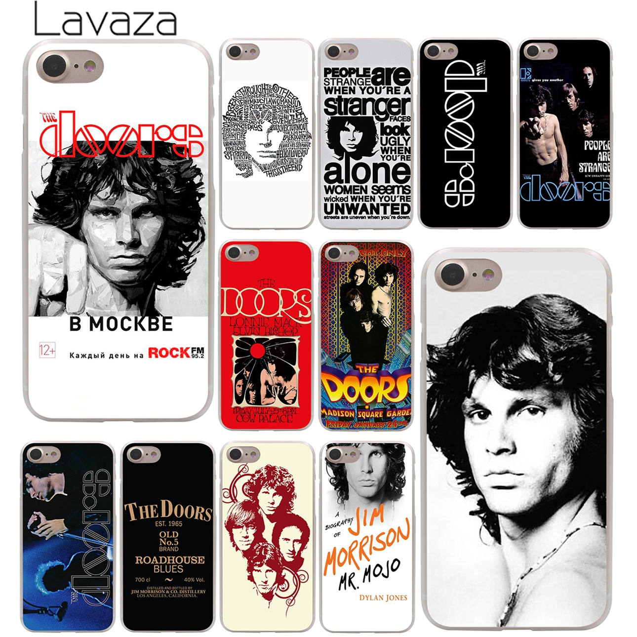 Lavaza The doors JIM MORRISON Hard Phone Cover Case for Apple iPhone X XR XS Max 6 6S 7 8 Plus 5 5S SE 5C 4S 10 Cases