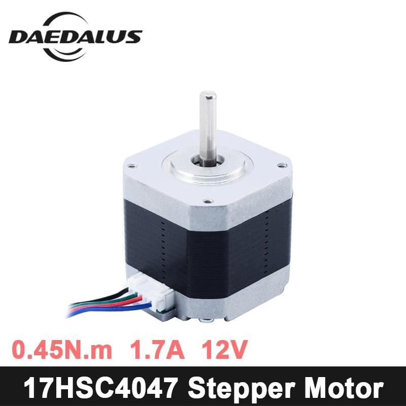 Nema17 Stepper Motor 1pcs 4-lead Nema 17 Stepper Motor 42 Motor 17HS-C4047 1.7A For 3D Printer And CNC XYZ engraver machine