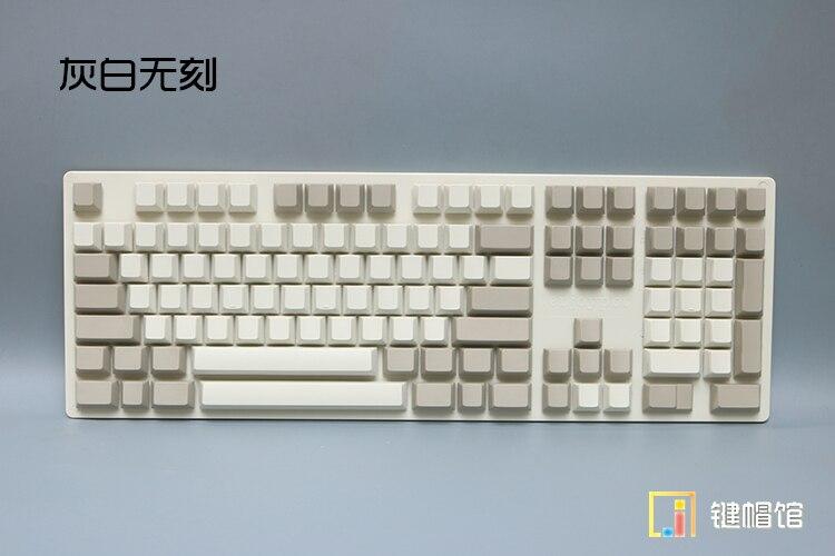 Enjoypbt mechanical keyboard keycaps 121 keycap thick PBT blank print cherry height 104 game keyboard keys retro gray white