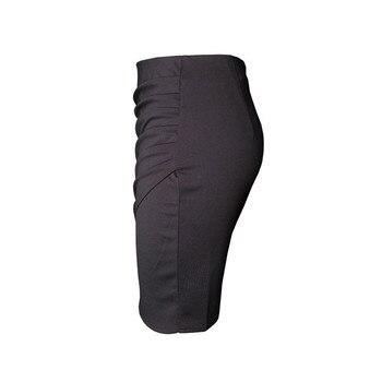 New Split Vintage Mini Bodycon Skirt High Waist Women Pencil Skirt Solid Elegant Lady OL Office Skirts For Female XS-XXL 4