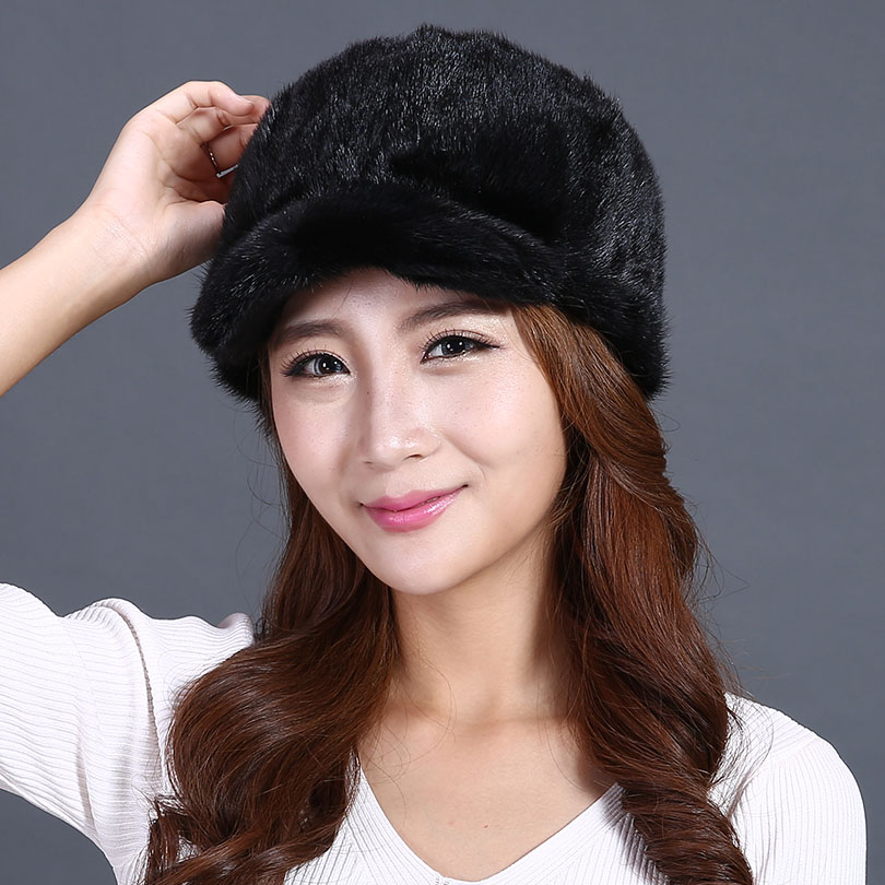 real mink fur hats for winter women pom hat cap winter genuine fur mink  knight cap winter headgear casual beanies female fur hat-in Skullies    Beanies from ... 0bbe9f77e16
