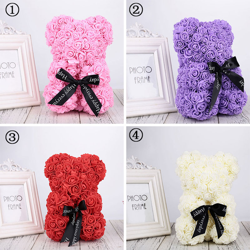 Event & Party Pe Dog Dolls Gift Simulated Toy Romantic Wedding Birthday Love Rose Dog Lovely Valentines Day Artificial Rose Decorations
