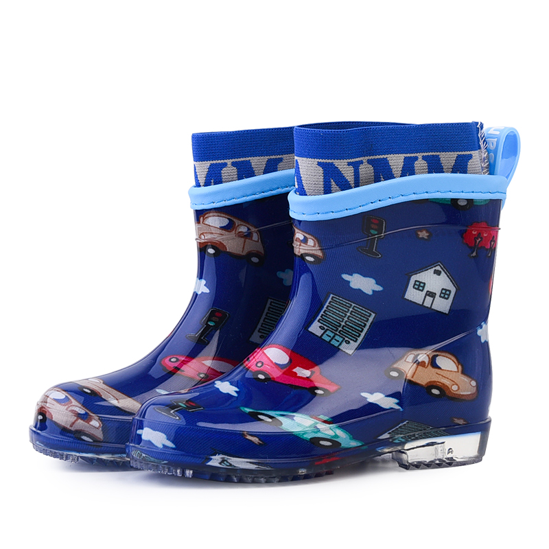 ULKNN Baby Kids Rain Boots For Girls Shoes Toddler Boys Boots Children Shoes PU Waterproof Rubber Outdoor School Footwear 2018