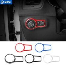 MOPAI салона для переключателя передних фар Кнопка украшения крышка отделка наклейки для Jeep Compass 2017 до автомобиля аксессуары для укладки
